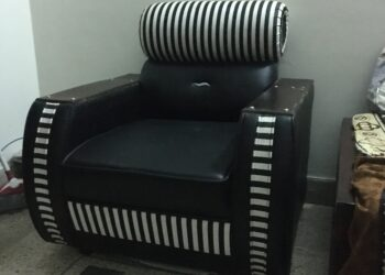 Coffee style sofa black n white color