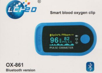 Smart Blood Oxygen Clip Pulse Oximeter OX-861 (Bluetooth Version)