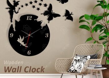 Fairy Wooden Wall Clock
