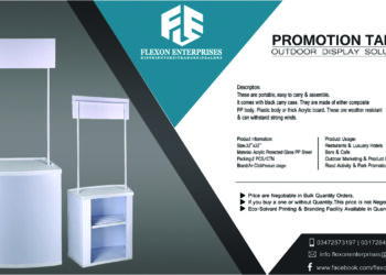 Branded Promotion Table for Sales, Marketing & Outdoor Activities