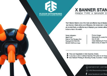 Branded Panda X Stand | Display Gear Banner Stand | Panaflex Standy