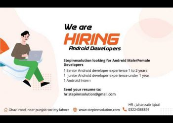 we are hirind ANDROID DEVELOPER