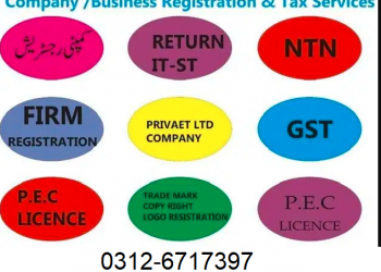 NTN, GST , INCOME TAX RETURN FILING, COMPANY & AOP REGISTRATION