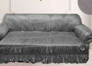 Sofa Cover 5 Seater Elastic Fit Jersey Fabric 3+1+1