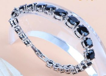 Aqeeq black 925sterling silver jewelry set Platinum plated stamped