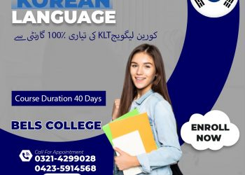 Korean language course just in 40 days in Bels College Lahore