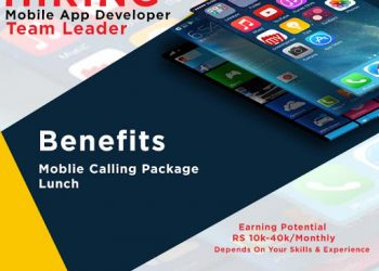 Hiring Mobile App Development Team leader..