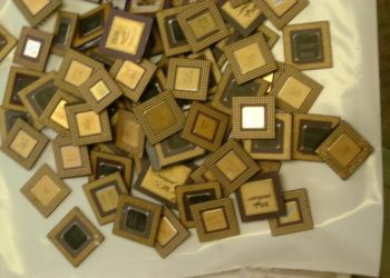 Ceramic CPU Processor Gold Scrap AMD 486 CPU and 586 CP and Rams