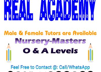 Home/Online Tutors for O & A Level – Real Academy